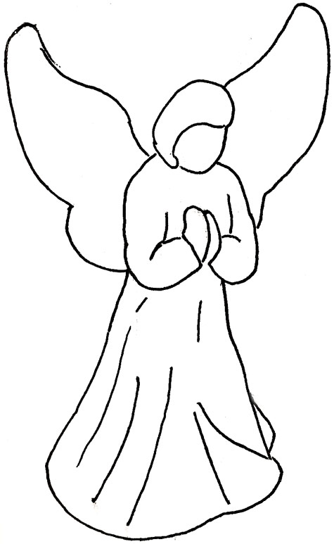 Angel Face Line Drawing : Angeli di natale