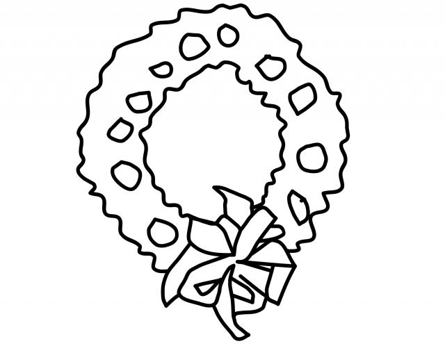 Corona di natale ghirlanda di natale corona dell 39 avvento for Disegni di natale facili da disegnare