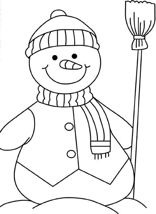 Pupazzo di neve - Pupazzo di neve pagine da colorare ...