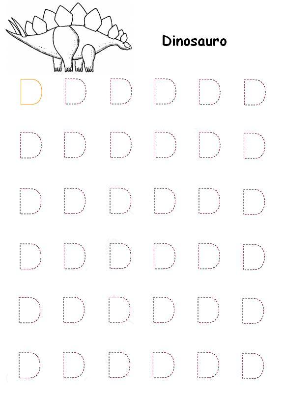 Pregrafismo Lettera D Lettera D Prescrittura