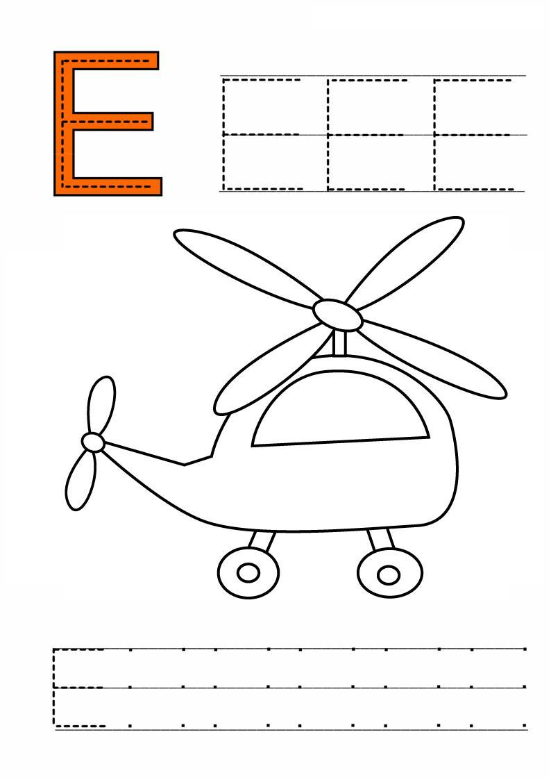 Pregrafismo lettera E - Prescrittura lettera E