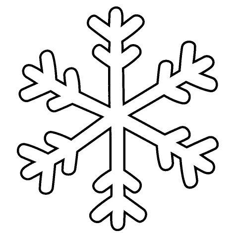 disegni d 39 inverno da colorare e stampare ForFiocco Di Neve Da Ritagliare