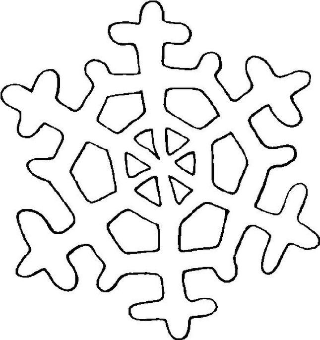 Fiocco di neve - Fiocco di neve da colorare foglio da colorare ...