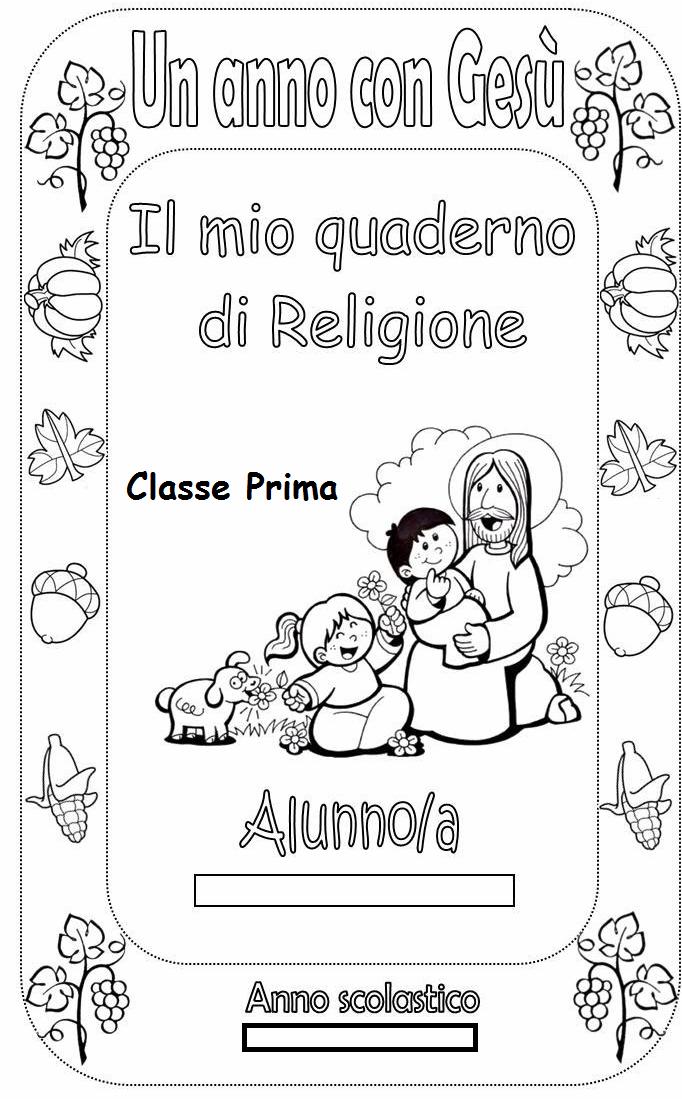 Preferenza Copertine quaderni di religione cattolica MZ05