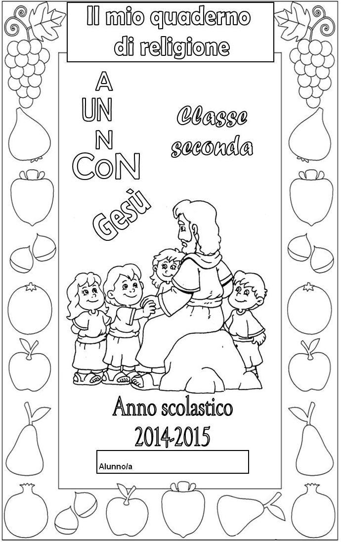 Famoso Copertine quaderni di religione cattolica FX06