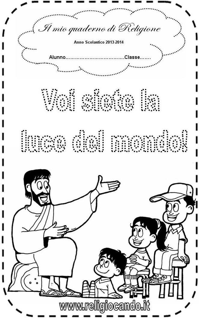 spesso Copertina quaderno di religione cattolica per scuola primaria EJ96