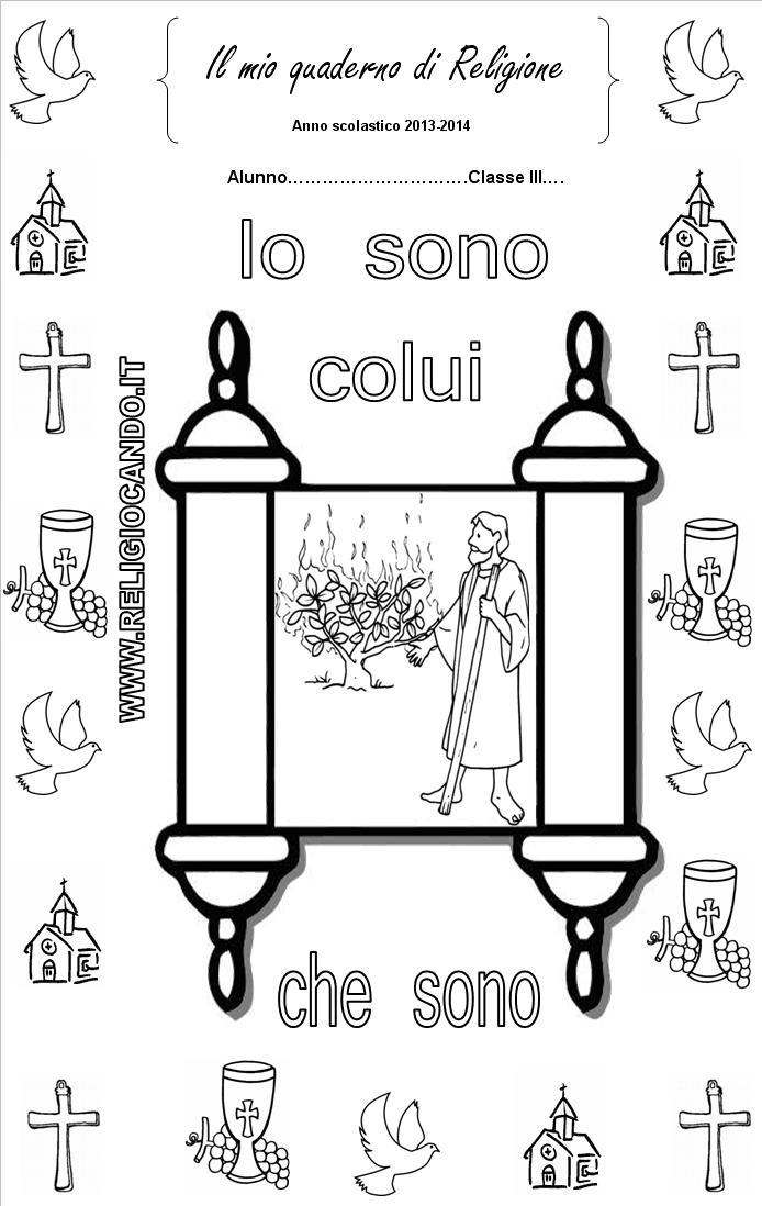 spesso Copertine quaderni di religione cattolica AA27
