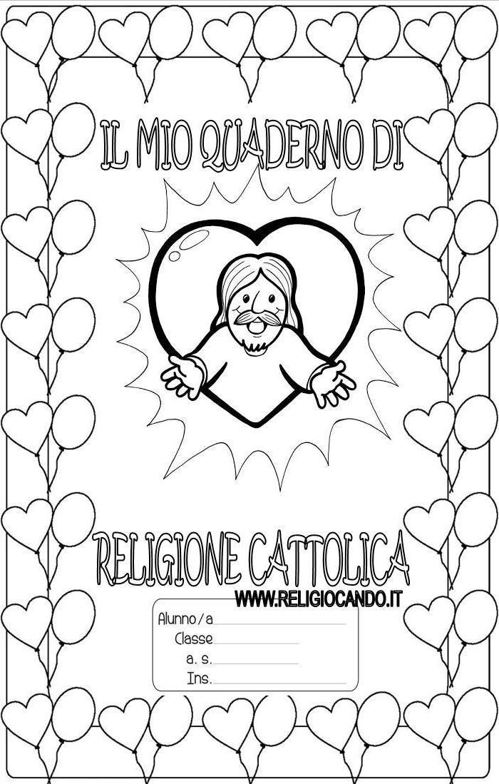 Famoso Copertina quaderno di religione cattolica per scuola primaria SD32