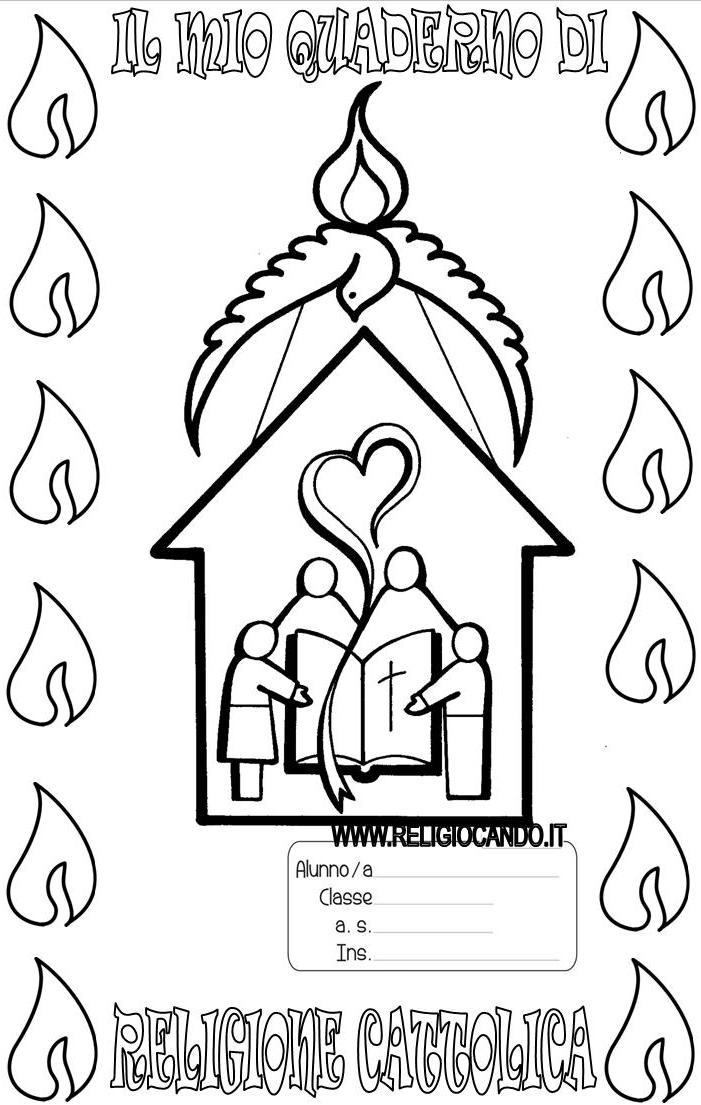 Popolare Copertina quaderno di religione cattolica per scuola primaria CL06