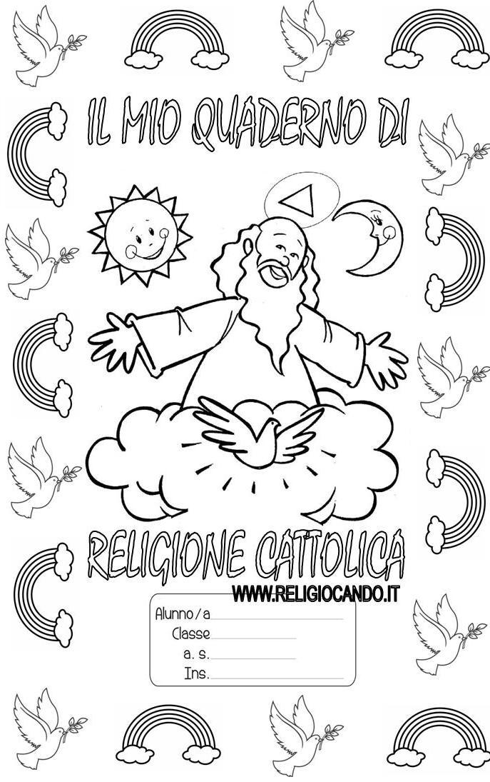 Estremamente Copertina quaderno di religione cattolica per scuola primaria OI61