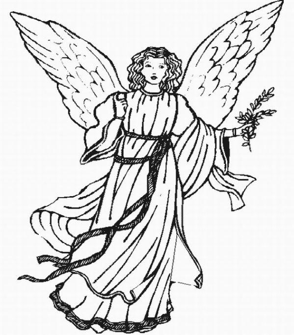 Angeli e arcangeli disegno da colorare angeli e arcangeli for Immagini angeli da colorare