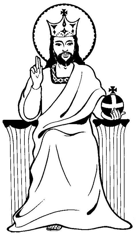 christ the king coloring page - free coloring pages of jesus king of kings