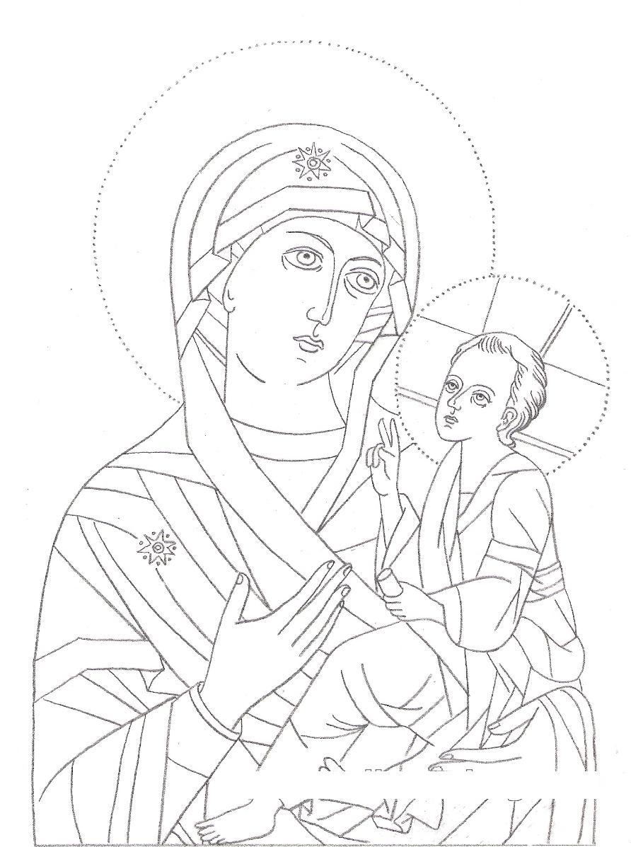 Icona di maria icona mariana for Immagini sacre da colorare