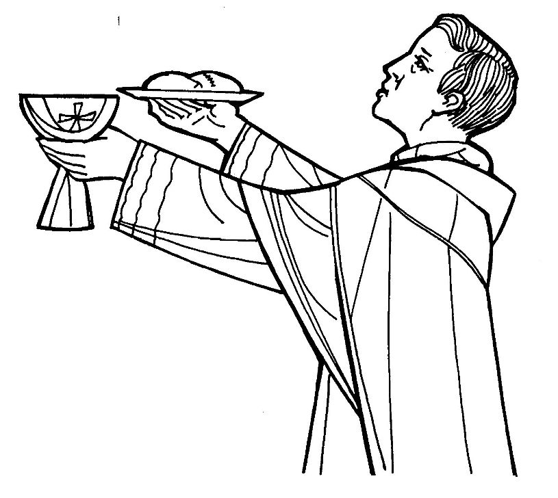 Ordine sacramento dell 39 ordine for Catholic mass coloring pages