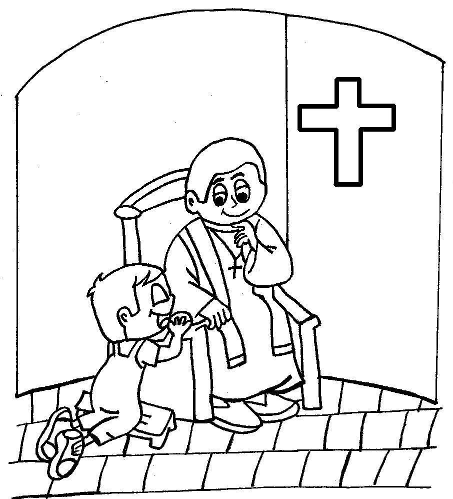 riconciliazione penitenza confessione priest clipart black and white priest clipart black and white