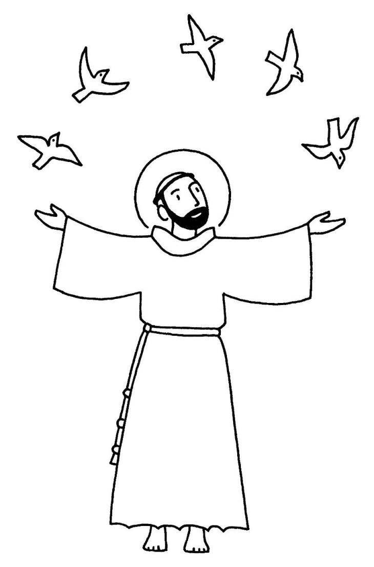 saint francis of assisi coloring page - san francesco d 39 assisi