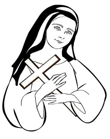 religiocandoit saint therese of lisieux coloring page