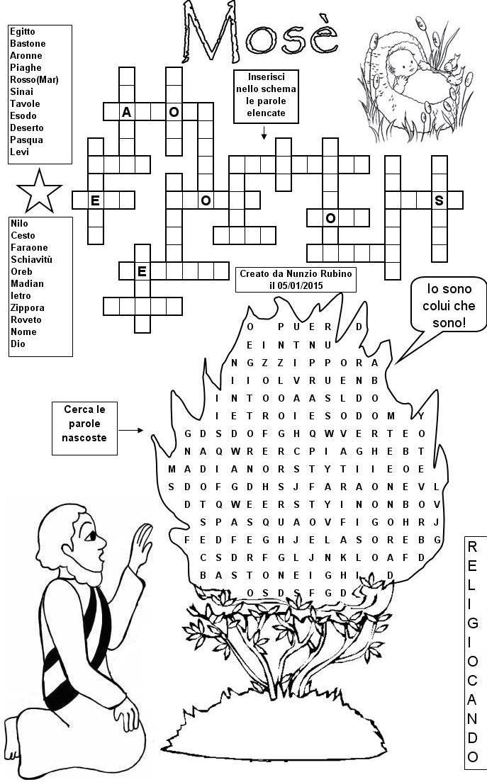 I super puzzle di religiocando for Crucipuzzle quaresima