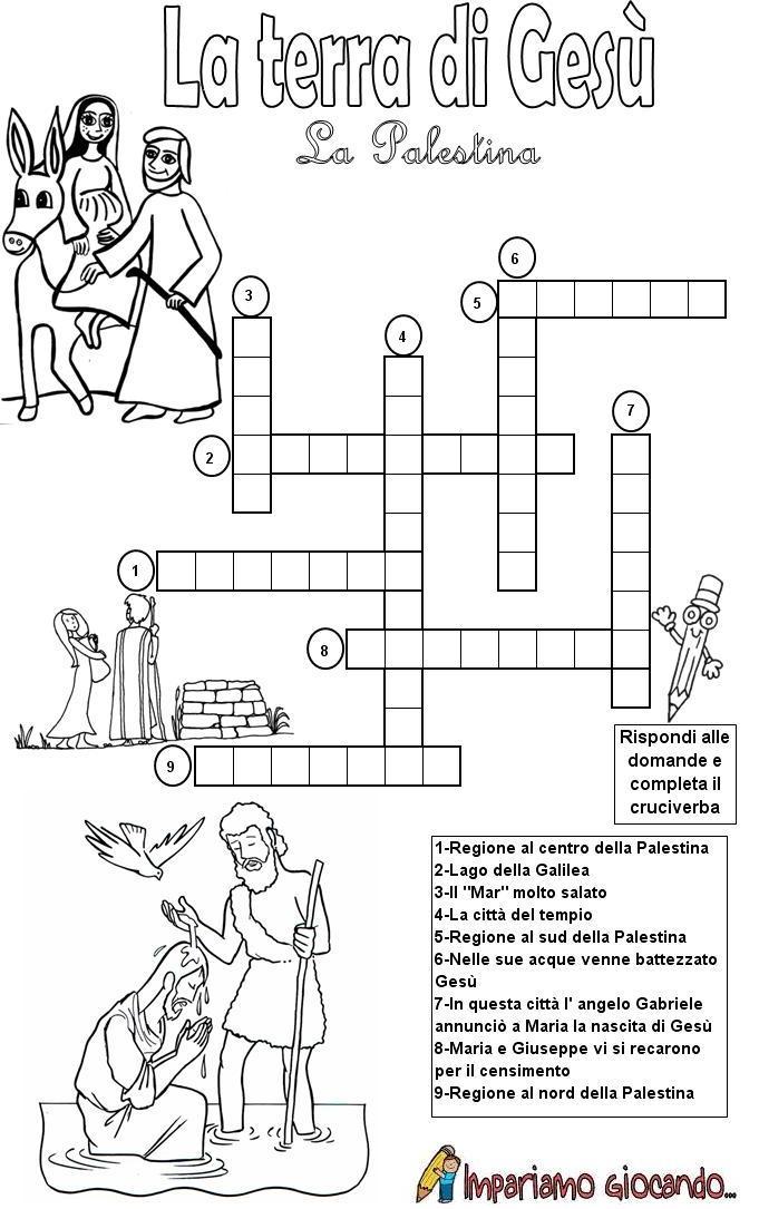 Religiocando perch giocando s 39 impara for Cruciverba per bambini catechismo