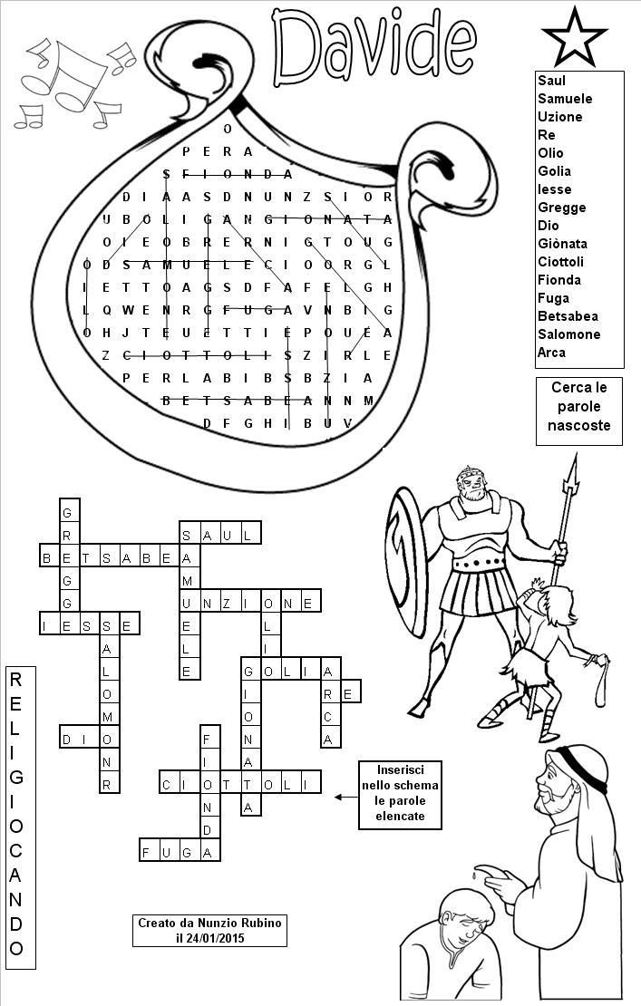 Re davide for Crucipuzzle quaresima