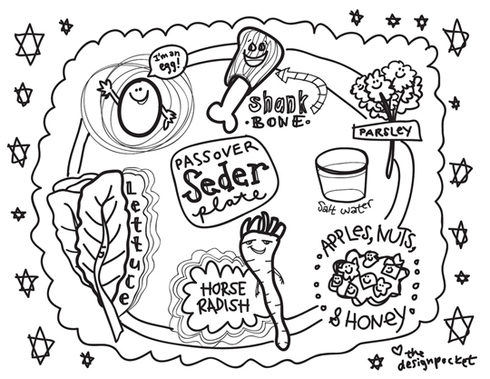 Pesach pasqua ebraica for Passover coloring page