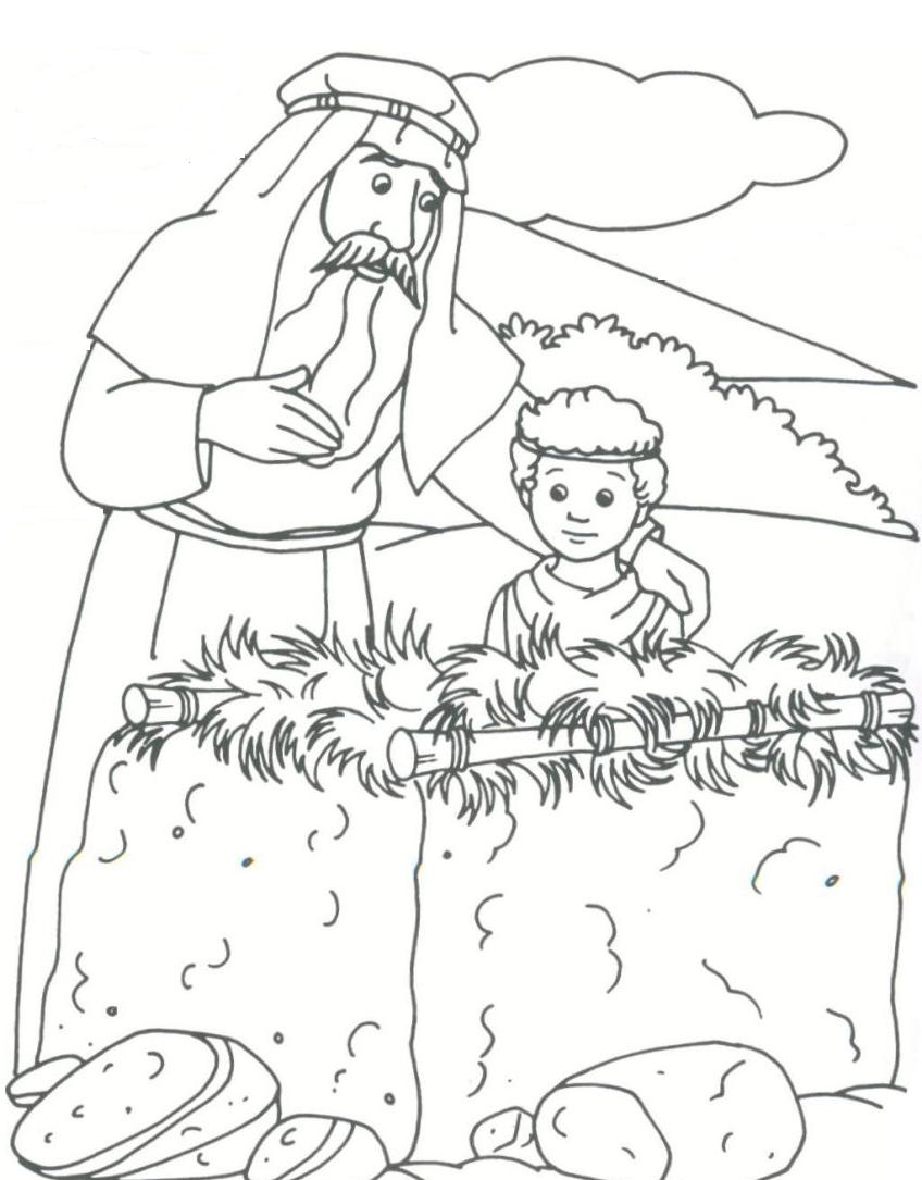 Abram Lot Bible Coloring Pages