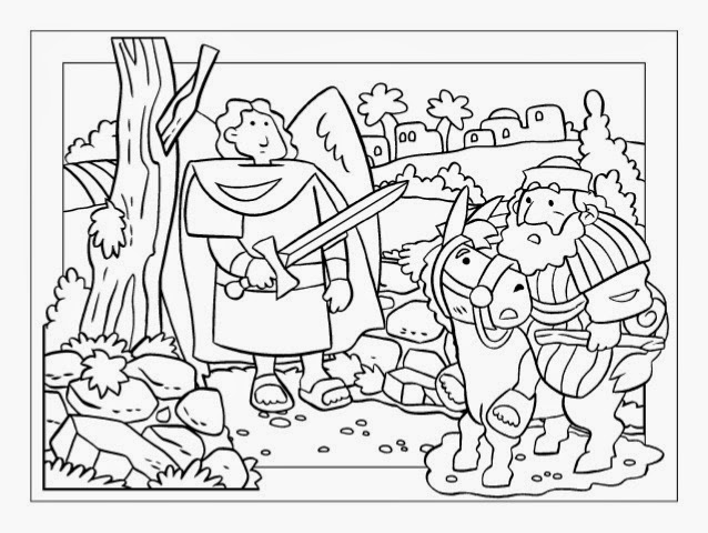 bible talking donkey coloring pages - photo#18