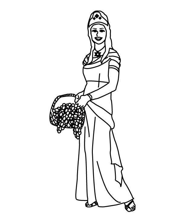 Holiday Coloring Pages Queen Esther Ester Da Colorare Regina Disegni