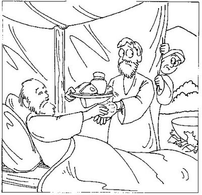 Giacobbe patriarca giacobbe for Esau and jacob coloring pages