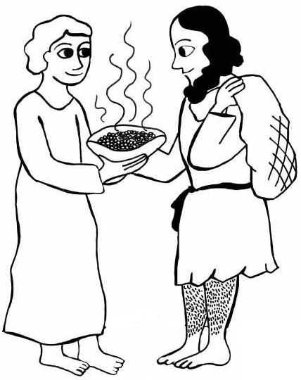 Jacob And Esau Coloring Pages Pin On