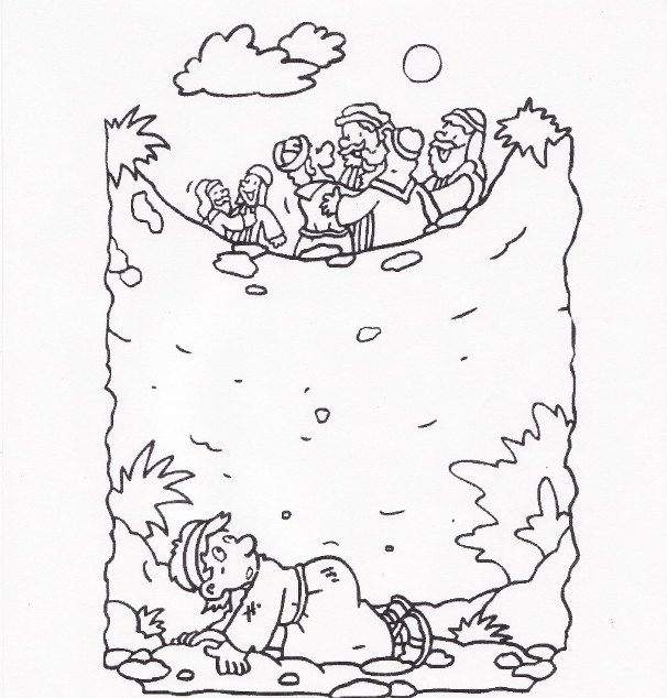 Free Joseph In A Well Coloring Pages
