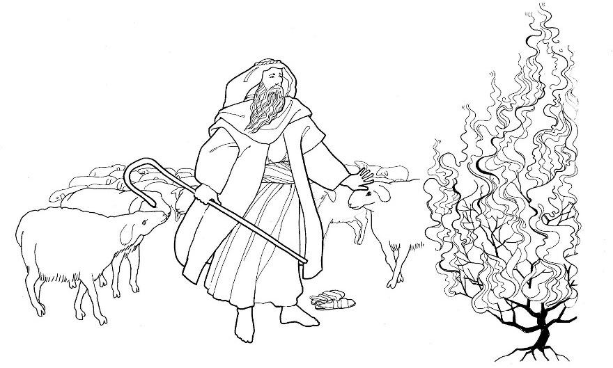 Mosè e il roveto ardente | Il roveto ardente