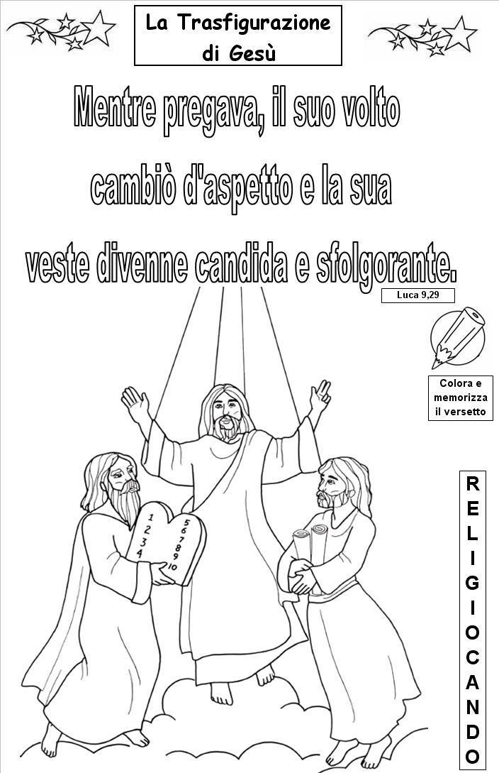 Risultati immagini per la trasfigurazione di gesù