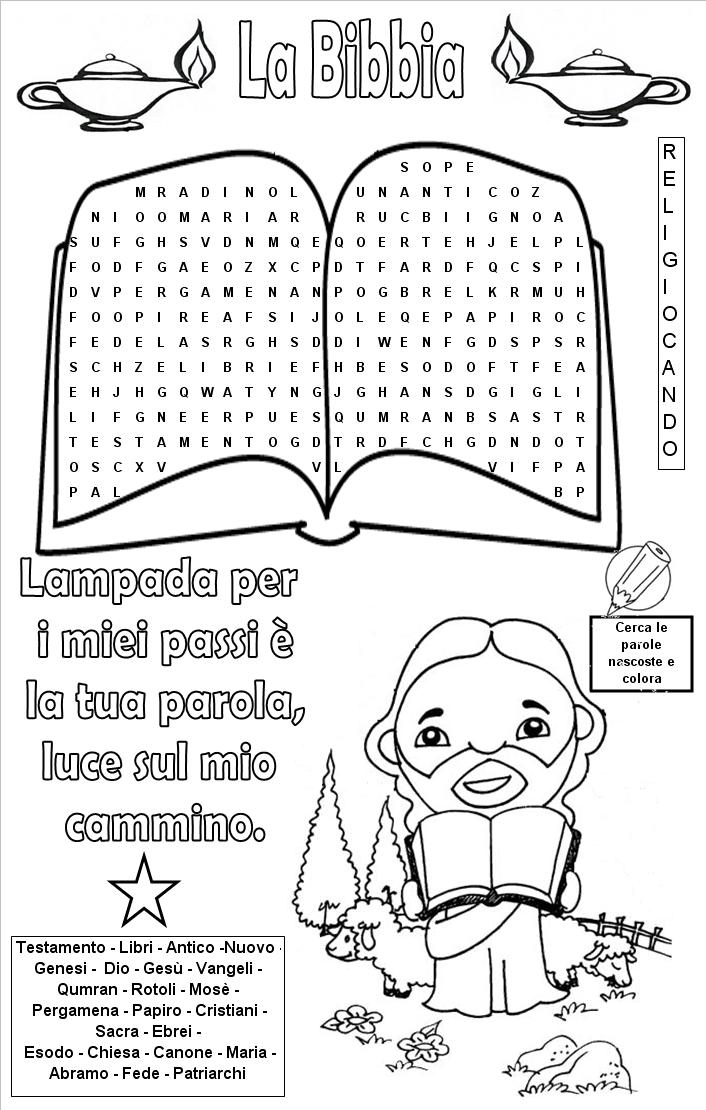 Sacra bibbia puzzle sacra bibbia religiocando for Crucipuzzle quaresima