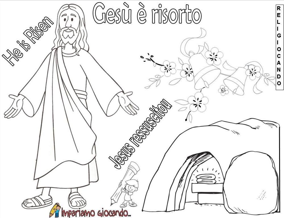 Immagine Gesù Risorto Da Colorare Clindamicina Crema Topica