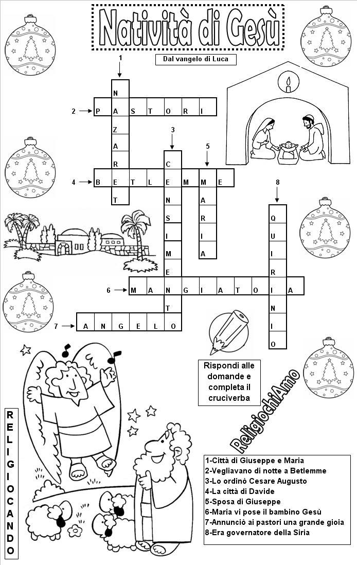 Religiochiamo i giochi di religiocando for Cruciverba per bambini catechismo
