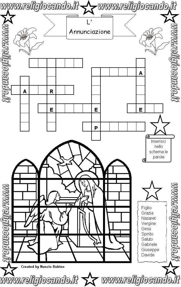 Annunciazione della beata vergine maria for Crucipuzzle quaresima