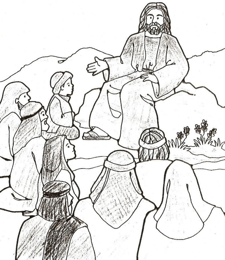 Jesus And Friends Coloring Pages