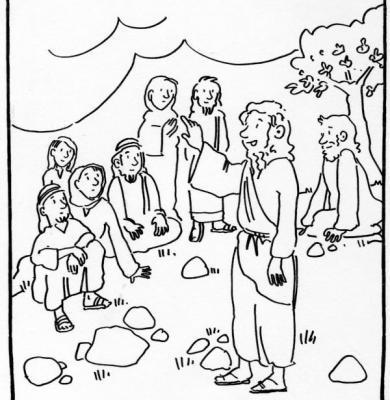Il discorso della montagna le beatitudini for Disegni della roma da colorare