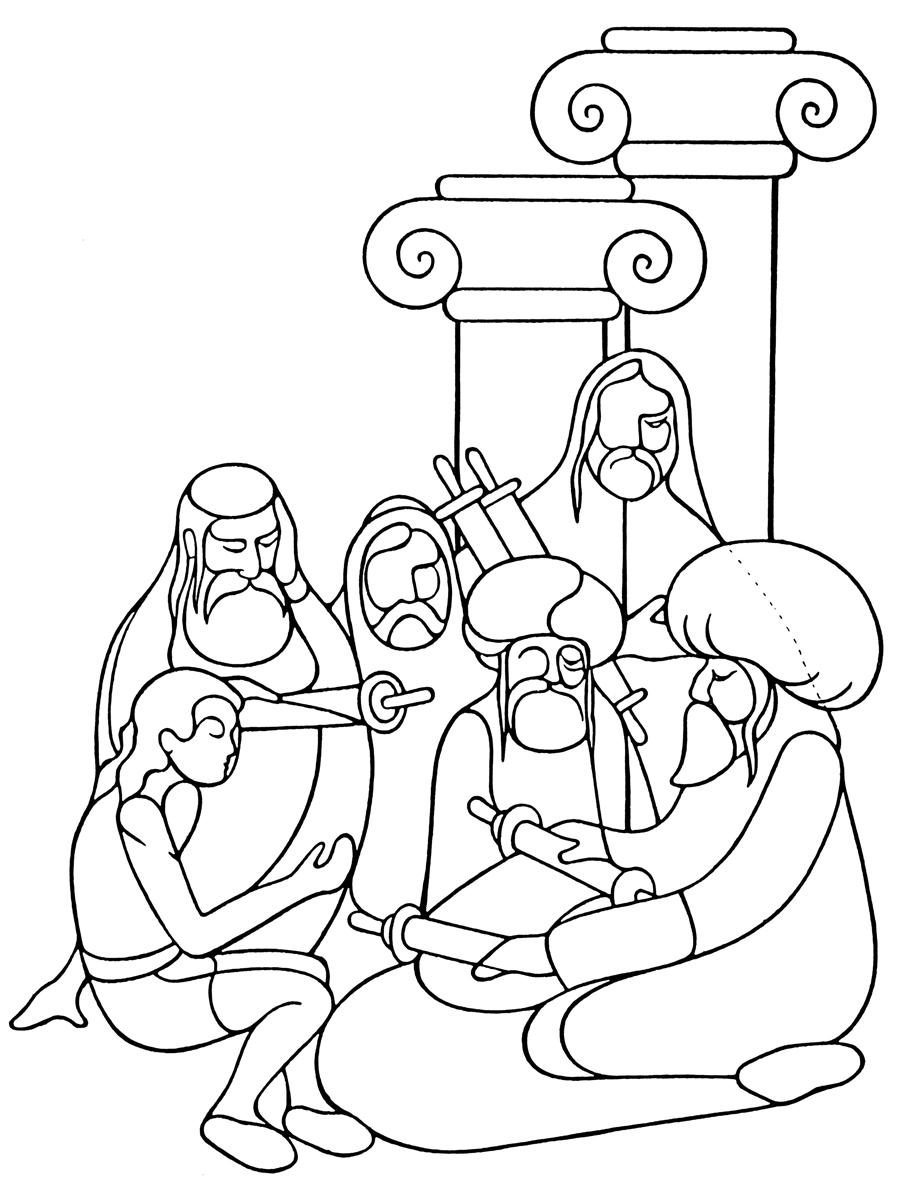 Free Coloring Pages Of Healing Sick Man Bible Coloring Pages New ...
