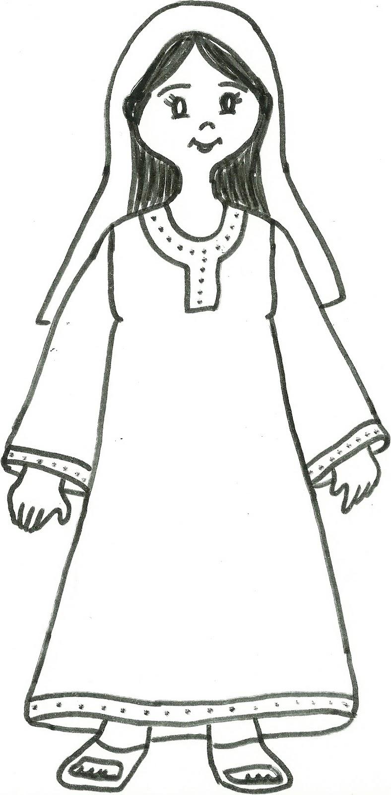 Maria di nazareth maria madre di ges for Disegni di lupi da colorare
