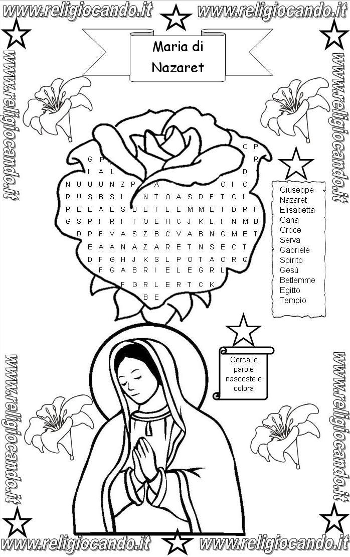 Maria di nazareth cruciverba puzzle maria di nazareth da for Cruciverba per anziani da stampare