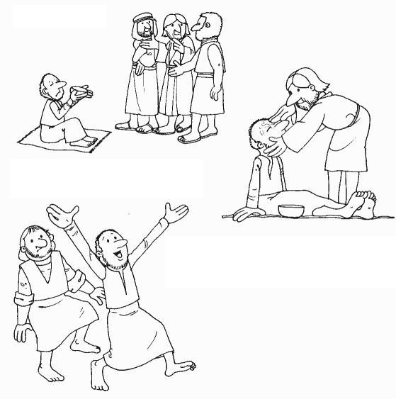 blind bartimaeus coloring pages - photo#17