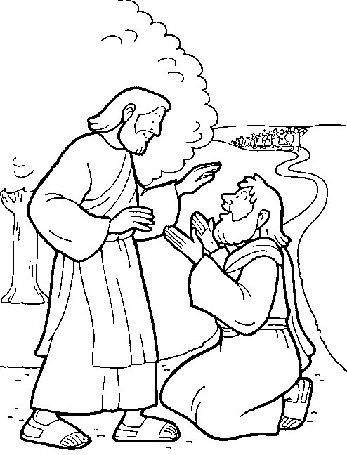 Jesus Heals Lepers Coloring Page Lds Coloring Pages Ten Lepers Coloring Page