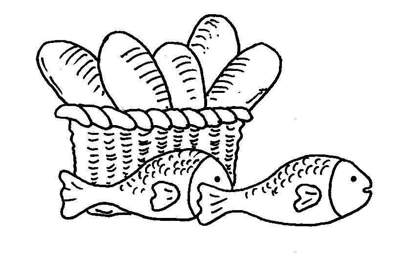 Image result for 5 loaves and 2 fish coloring pages | Bible - Boy ...