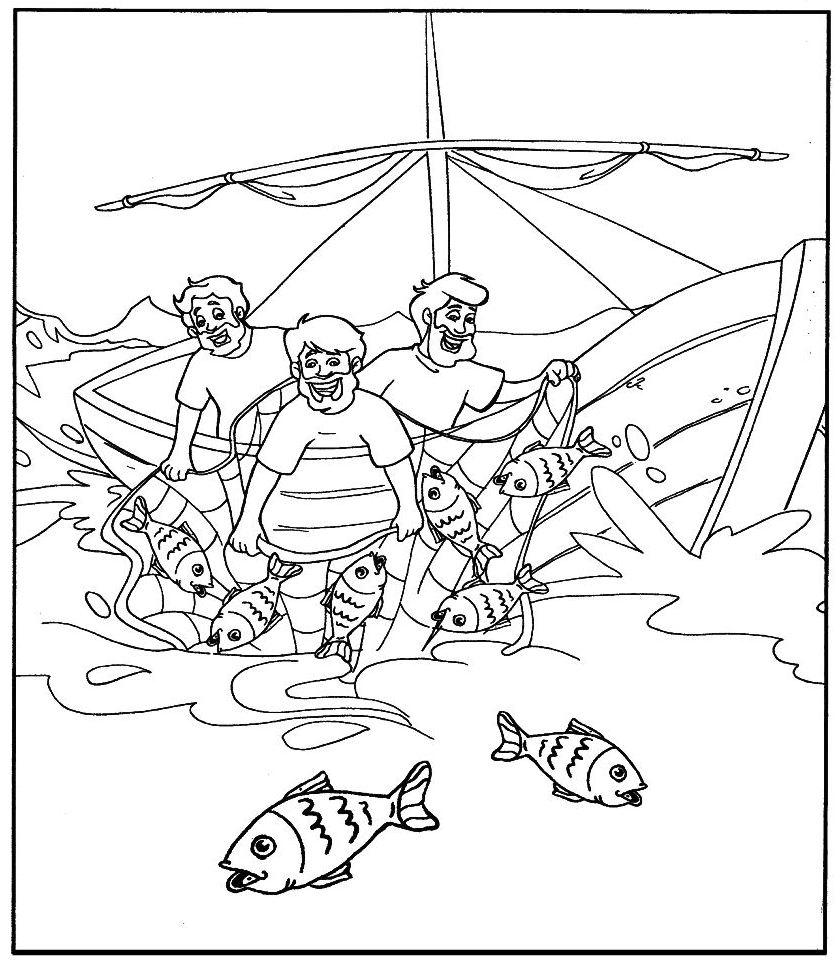 La pesca miracolosa for Pesci da disegnare per bambini