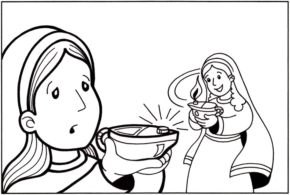 coloring pages 10 virgins - photo#22