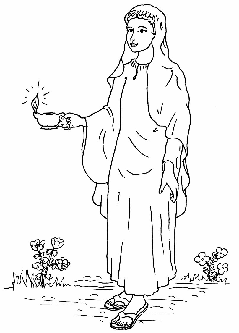coloring pages 10 virgins - photo#15