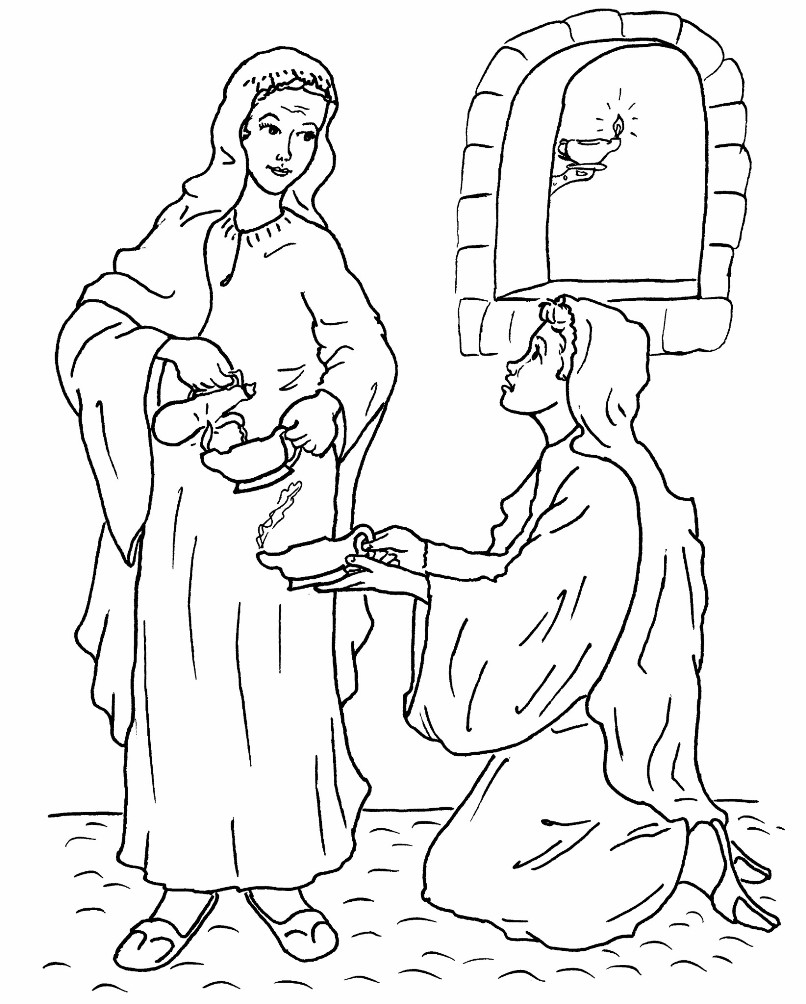 coloring pages 10 virgins - photo#4
