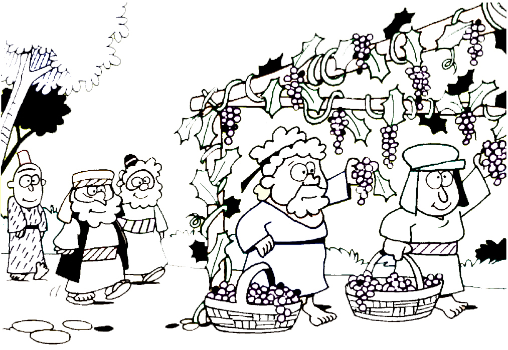 naboths vineyard coloring pages - photo#9